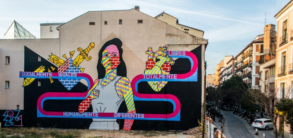Graffiti en Vallecas, Madrid