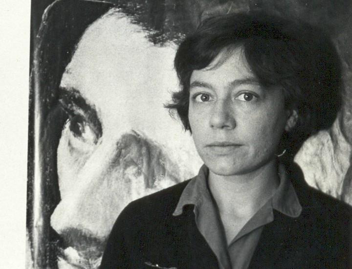 Alejandra Pizarnik en un museo