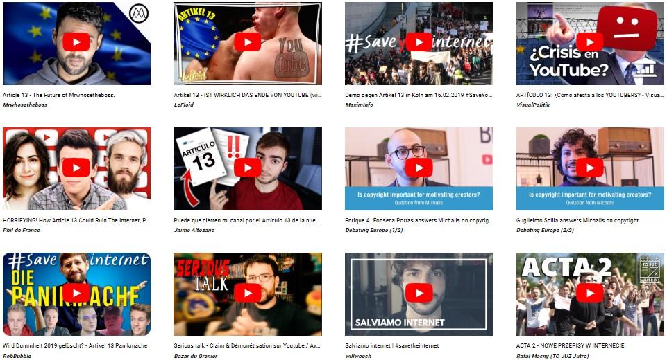 Youtubers de diferentes países se han pronunciado contra el Artículo 13