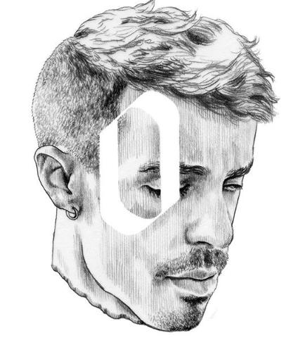 Retrato realizado por Javier Rubín
