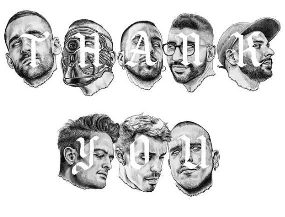 Montaje con los retratos realizado por Javier Rubín