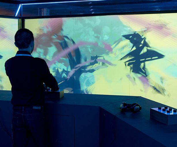 La exposición interactiva 'Videojuegos', en Fundación Telefónica.