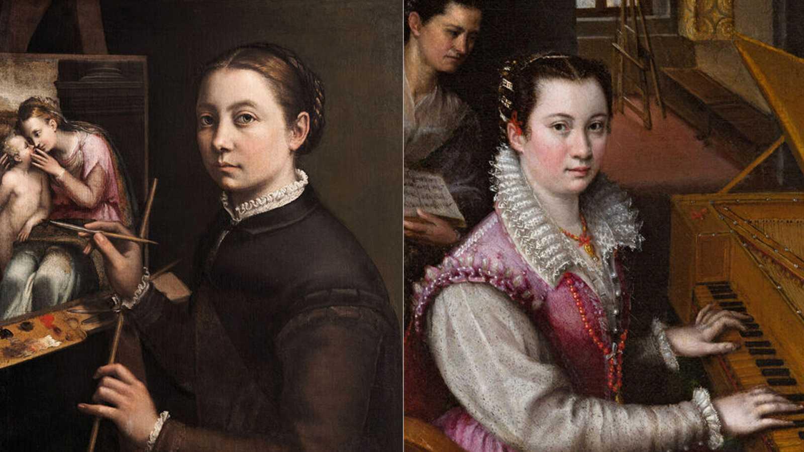 Sofonisba Anguissola y Lavinia Fontana (de izda. a dcha.)
