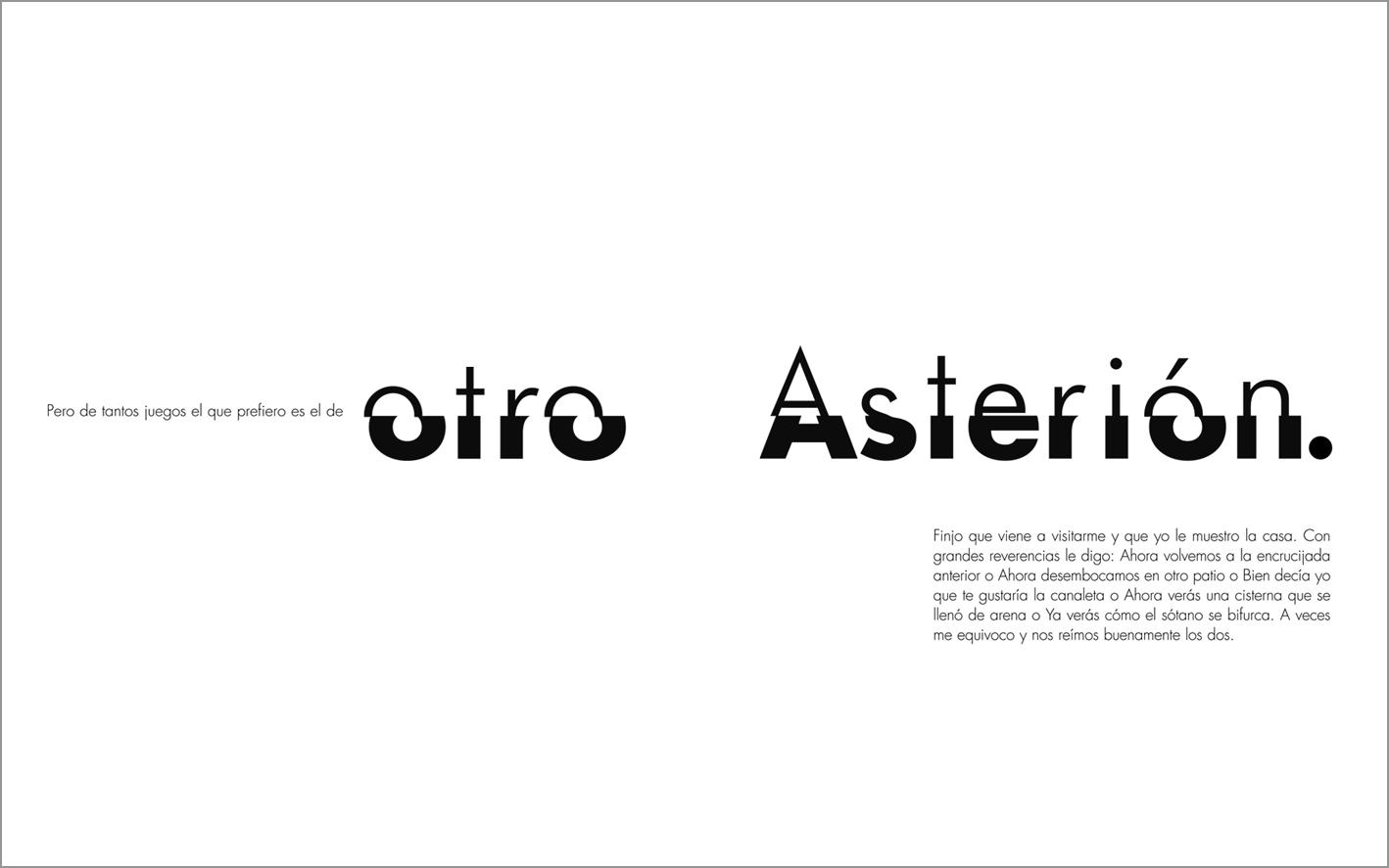 Muestra de ilustraciones de La casa de Asterión de Jorge Luis Borges  por Verónica Moretta, Nórdicalibros.