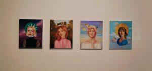 Obra de Celia Gallego formada por Primavera Verano Otoño e Invierno