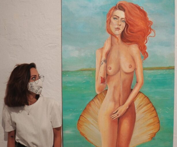 Celia Gallego junto a Venus