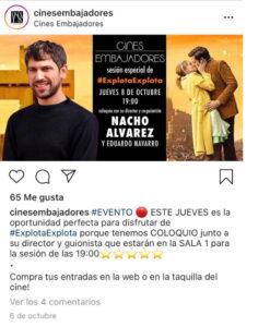 Post Instagram Cines Embajadores