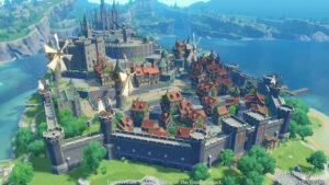 Una de las villas medievales del videojuego Genshin Impact