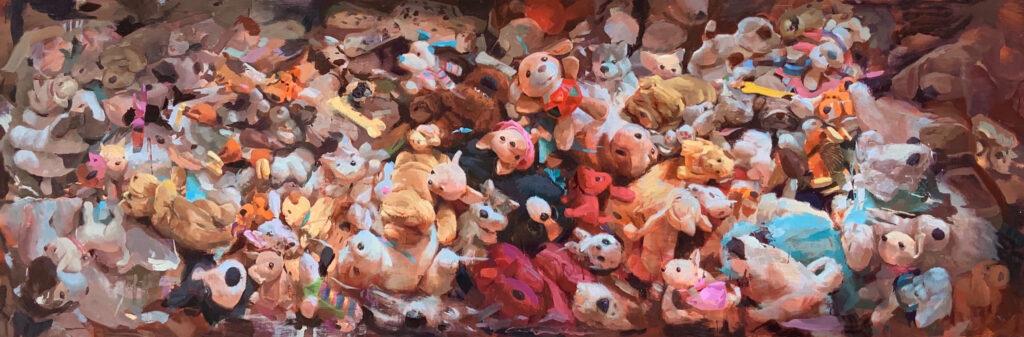 Cuadro Montón de perros de peluche de Irene Cuadrado