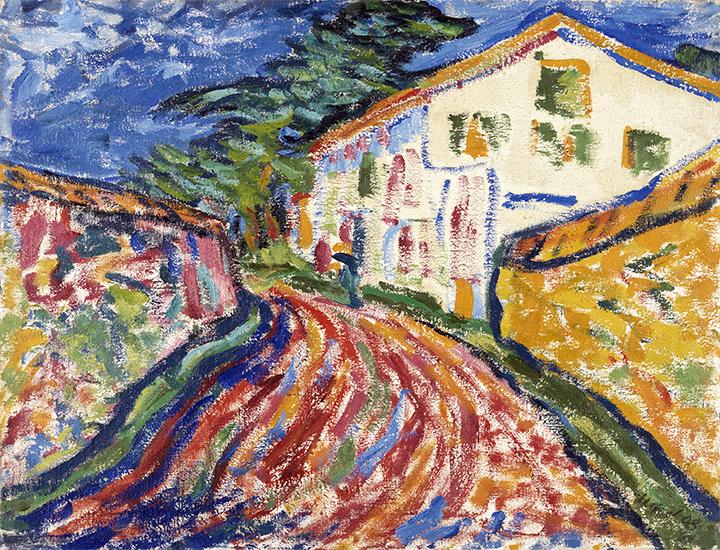 Casa en Dangast (La casa blanca) 1908 Erich Heckel