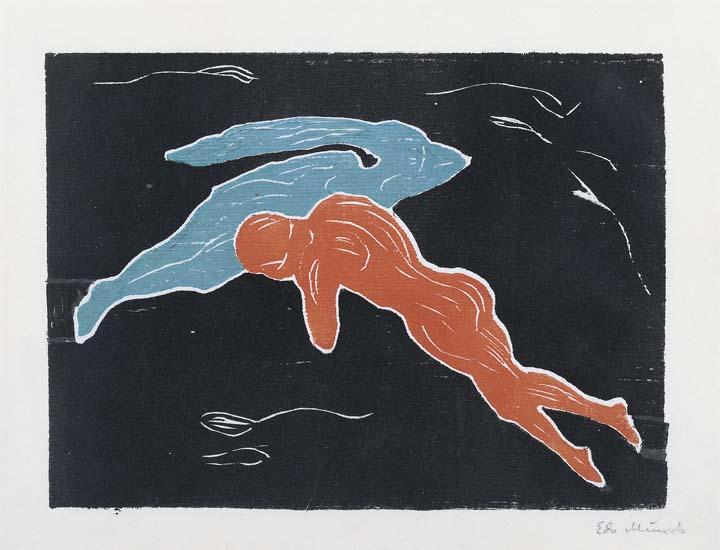 Encuentro en el espacio, 1899. Edvard Munch