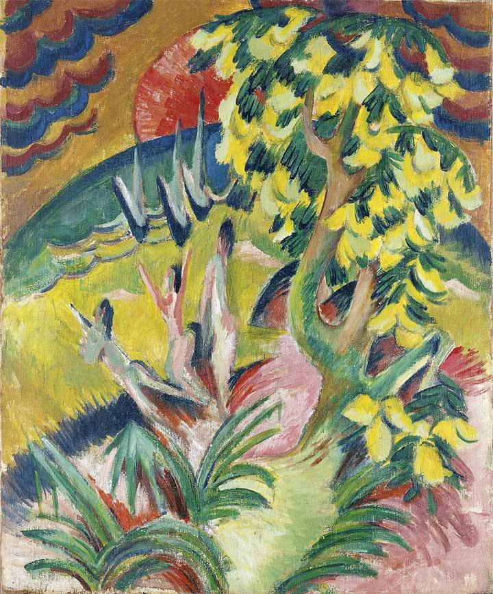 La cala, hacia 1914. Ernst Kirchner