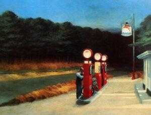 GAS STATION 1940 EDWARD HOPPER
